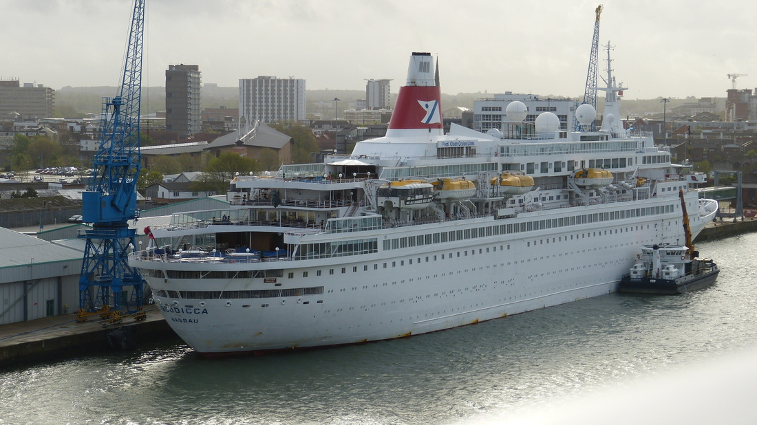 FIRE BREAKS OUT ON BOUDICCA Cruise Capital Image Archive - Boudicca cruise ship itinerary